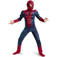 On Sale Child Boy Amazing Spiderman Movie Character Classic Muscle Marvel Fantasy Superhero Halloween Carnival Party Costume