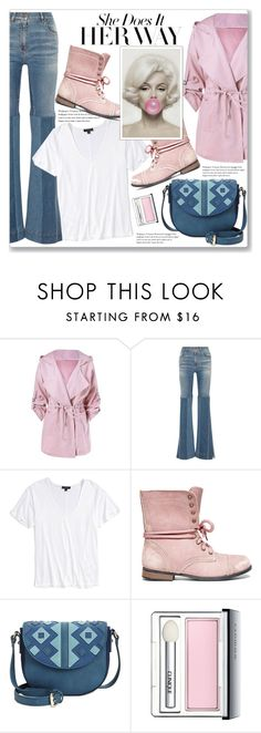 """""""Her Way"""" by queenvirgo ❤ liked on Polyvore featuring Roberto Cavalli, Topshop, Steve Madden, INC International Concepts and Clinique"""