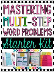 This is a MUST HAVE for teaching multi-step word problems in the upper grades. Grab this freebie now!