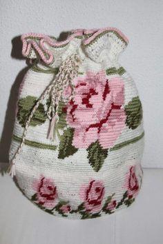 Mooie tas in roosjes patroon