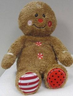 "Mary Meyer Holiday Cheery Cheeks 12"" Gingerbread Man Plush Christmas Toy NWOT #MaryMeyer"