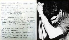 Love Will Tear Us Aparthandwrittenby Ian Curtis.