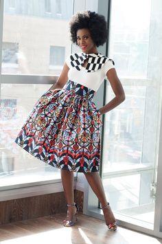 Akiva Ankara African Print Skirt