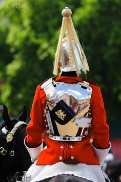 A trooper of the Life Guards, Household Cavalry Mounted Regiment.