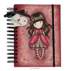 Gorjuss Organisational Notebook - Ladybird from Santoro 3d Cards, Pop Up Cards, Santoro London, Swing Card, Scrapbook, Santorini, Projects To Try, Stationery, Greeting Cards