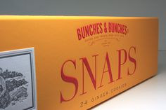 Bunches & Bunches Snaps Cookie Packaging on Behance