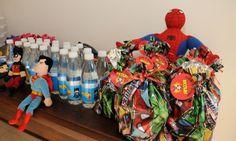Decoração para festa de aniversário infantil super heróis