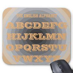English Alphabet Suntan Art Mousepad by Janz
