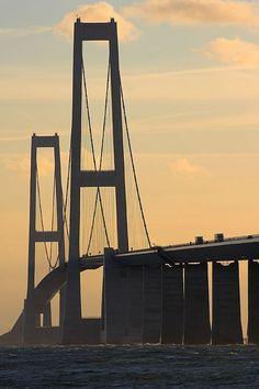 Denmark - Sjælland - Great Belt bridge   by Darrell Godliman