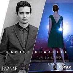 """Damien Chazelle se lleva el premio Oscar en la categoría Mejor Director por """"#Lalaland"""". Felicidades! #BazaarAwards  via HARPER'S BAZAAR MEXICO MAGAZINE OFFICIAL INSTAGRAM - Fashion Campaigns  Haute Couture  Advertising  Editorial Photography  Magazine Cover Designs  Supermodels  Runway Models"""