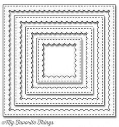 Stitched Square Scallop Frames Dies kaufen