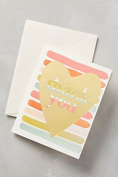 Heartfelt Thank You Card #anthropologie