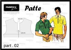 Abotoamento da camisa: a camisa polo recebe botões e para o acabamento chamamos de vista ou do francês patte que significa tira; existem v...