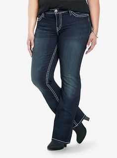 Silver Jeans - Natsuki Dark Washed Boot Jeans | Torrid - 26T