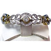 SALE Fabulous .41 Diamond Art Deco Vintage Bracelet 14K