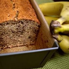 "Best Ever Banana Bread From AllRecipes.Com: ""This really is the best banana bread I have ever tasted. Very moist and it freezes well. I also bake this in 3 small loaf pans however you may need to shorten the baking time. Buttermilk Banana Bread, Best Banana Bread, Banana Bread Recipes, Baking Recipes, Dessert Recipes, Desserts, Keto Recipes, Great Recipes, Favorite Recipes"