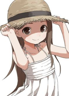 dress karakai_jouzu_no_takagi-san summer_dress takagi-san yamamoto_souichirou Anime Neko, Kawaii Anime, Manga Anime, Manga Girl, Anime Art Girl, Character Art, Character Design, Wie Zeichnet Man Manga, Anime Devil