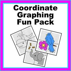 Students love graphing pictures on the coordinate plane! This product includes the instructions for graphing three cute animal pictures. Fun Math, Maths, Middle School, High School, Sixth Grade Math, Graphing Activities, School Grades, Cute Animal Pictures, Math Resources