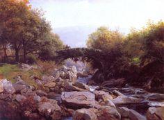 Hans Gude (Norwegian 1825–1903) [Norwegian romantic nationalism] Eføybroen, Nord-Wales, 1863. National Gallery of Norway, Oslo.