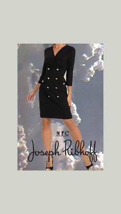 Black DressCoat from Joseph Ribkoff – My Formal Closet Aesthetic Look, Aesthetic Clothes, Joseph Ribkoff Dresses, Coats For Women, Clothes For Women, Coat Dress, Women's Fashion Dresses, Womens Fashion, Fashion Trends