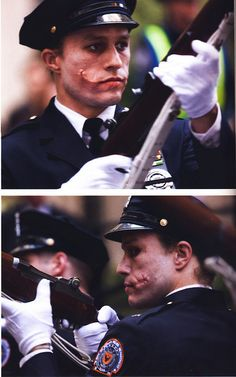 Heath Ledger in The Dark Knight.  How did they do those scars?!
