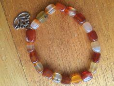 carnelian bracelet by wellbeingbliss on Etsy