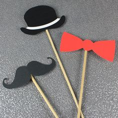 DIY Photo Booth Props: Mustache, Top Hat, and Bow Tie