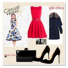 """simple-dress13"" by mirela-alerim ❤ liked on Polyvore featuring vintage"