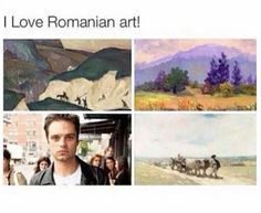 I love Romanian art... Sebastian Stan>>>>>one of these things is not like the others>>>>yeah, that one is way to bright.