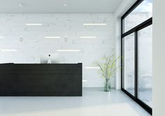 KOVR | Marble decor | Reception desk | Integrated architectural lighting | Wall panels