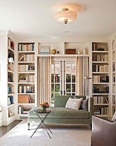 French Doors via pinterest. Love the look of these shelves around french doors.