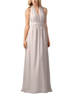 Convertible dress - love this color (ice-pink) looks more greyish to me but i like all of the different ways to wear it!