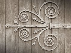 ♕ beautiful church door hinge