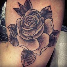 Dotted rose. #dotwork #rose #tattoo #edinburgh