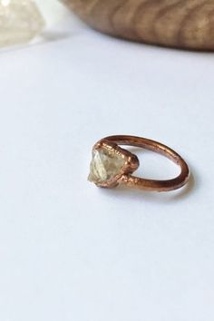 Just in time for scorpio season.. Raw Citrine Ring by Mystica