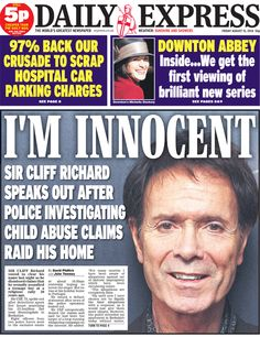 "2014:  Police have searched a Berkshire property belonging to Sir Cliff Richard in relation to an alleged historical sex offence. No arrests have been made. Cliff, said the allegation was ""completely false"".Operation Yewtree police said the allegation involve boys under 16 and alleged sexual assault. The singer is the most successful British musicians of all time. He has sold 21.5 million singles - more than any other male British artist."