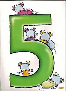 Number five ♥ children's alphabet Numbers Preschool, Learning Numbers, Math Numbers, Preschool Worksheets, Letters And Numbers, Preschool Activities, Animated Numbers, Scrapbook Letters, Flashcards For Kids