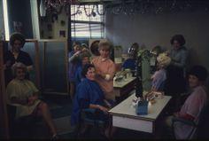 East Ham hairdressers, 1975.