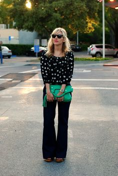 Polka dots, chiffon with a punch of color.