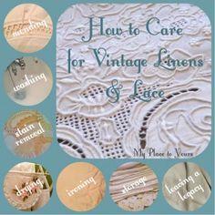 Antique Lace, Vintage Lace, Vintage Embroidery, Vintage Stuff, Vintage Items, Linens And Lace, Linen Tablecloth, Vintage Fabrics, Vintage Sheets
