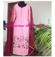 Embroidery Suits Design, Embroidery Dress, Machine Embroidery, Indian Suits, Indian Dresses, Indian Wear, Anarkali Dress Pattern, Dress Patterns, Designer Punjabi Suits