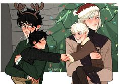 The kids look weird I just like how Harry and Draco were drawn Draco Harry Potter, Harry Potter Comics, Harry Potter Ships, Harry Potter Memes, Potter Facts, Scorpius And Albus, Drarry Fanart, Funny Memes About Girls, Girl Humor