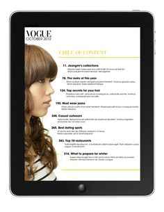 iPad Magazine by Taka Kusakari, via Behance #magazine #digital #design