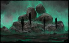 Haunted Stones by ChrisCold on http://chriscold.deviantart.com/