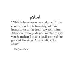Realise this. Alhamdulilah