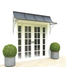 Hand Made 8 Foot Wide Door Canopy With Lattice Ironwork Brackets. Perfect  For French