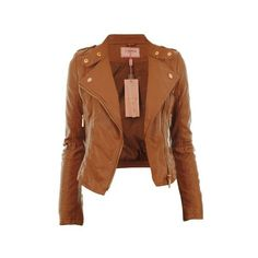 Diana New Womens Faux Leather Biker Gold Button Zip Crop Ladies Jacket... ($44) ❤ liked on Polyvore featuring outerwear, jackets, tops, leather jackets, vegan jacket, cropped jacket, fake leather jacket, zip jacket and vegan biker jacket