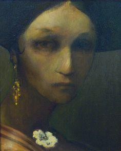 "Saatchi Online Artist: Anthony Johnson; Oil, Painting ""Portrait 'anima'"""