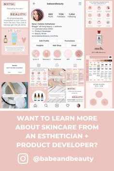 Get skincare tips from a licensed esthetician + beauty product developer! #esthetician #estheticiantips #skincare Oily Skin, Sensitive Skin, Combination Skin, Get The Job, All Things Beauty, Detox, Babe, Skincare, Advice