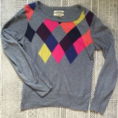 * 24 HOUR SALE * Bass & Co. Fun Argyle Sweater Who says argyle has to be boring? This light cashmere blend argyle sweater is all about brining fun colors to the table. Great for bringing to an outdoor party as a nighttime sweater, or rocking at the office. Bass Sweaters Crew & Scoop Necks
